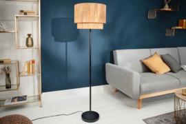 Design vloerlamp PURE NATURE 150cm ronde kap bohemian look