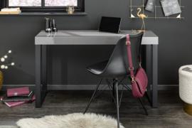Design Bureau GRIJS BUREAU 120 cm Console hoogglans Grijs frame zwart