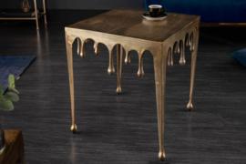 Extravagante salontafel LIQUID LINE L 46 cm goud druppelvormig design