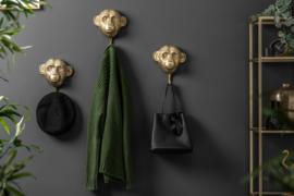 Kapstokhaken set van 3 apen 25 cm goud