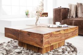 Solide design salontafel BOLT 80cm Sheesham hout