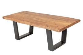Massieve boomstam salontafel MAMMUT 110cm acacia 3,5 cm tafelblad