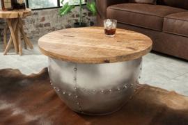 Design salontafel DRUMP STORAGE 68 cm naturel mangohout Industrial