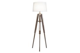 Vloerlamp Industriële Retro 158 cm wit grenen hout