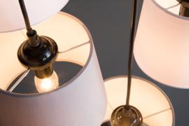 Moderne hanglamp LEVELS IV met 6 linnen parasols