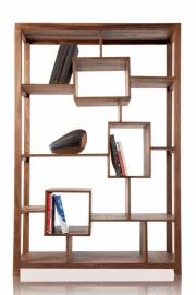 Stevige boekenplank CUBUS XL 180 cm Sheesham unieke nerf