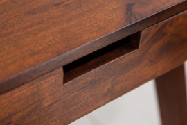 Massiefhout acacia bureau MONSOON 120 cm  met La en een opvallende afwerking
