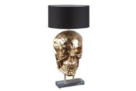 Extravagante tafellamp SKULL 76 cm zwart gouden schedel tafellamp