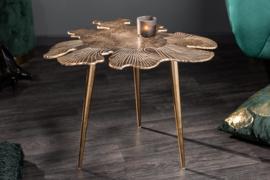 Salontafel LEAF 57 cm goud in een filigraan bladmotief