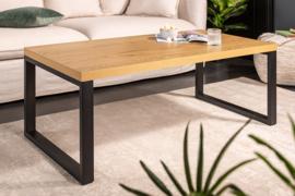 Design salontafel LOFT 120cm eiken look zwart metalen frame