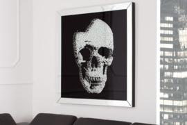 Exclusieve afbeelding MIRROR SKULL 100x100cm Diamond Skull XXL LEVERBAAR in MEI