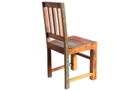 Massief houten stoel JAKARTA gemaakt van gerecyclede vissersboten
