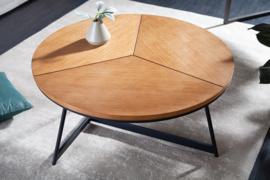 Design salontafel OAK ELEGANCE 80cm eiken zwart metalen frame