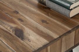 Massief bureau SCORPION 110 cm grijze acacia haarspeldpoten