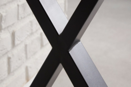 Industrieel bureau LOFT 140 cm eiken look met zwart X-frame