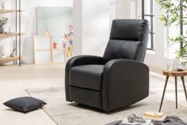 Moderne relax fauteuil HOLLYWOOD II zwarte tv fauteuil met ligfunctie