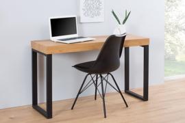 Design console EIKEN BUREAU 120 cm eiken vintage metalen frame kantoortafel