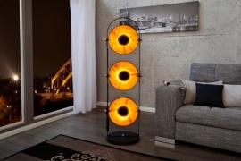 Vloerlamp Model: Studio Trio - Zwart / Bladgoud - 22968