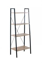 Wandkast & boekenkast metaal en massief hout