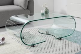 glazen salontafel FANTOME 90 cm transparant