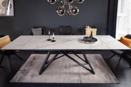 Uitschuifbare eettafel ATLAS 180-220-260cm keramisch blad in marmerlook