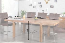 Eettafel Model: Lagos - 120cm - 200cm - 20976