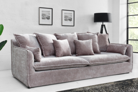 Grote bank HEAVEN 3-zits 210 cm taupe velours