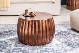 Handgemaakte salontafel MARRAKESCH 55cm koper met gehamerd design