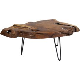 Salontafel Massief hout 100x60 met  haarspeldpoten