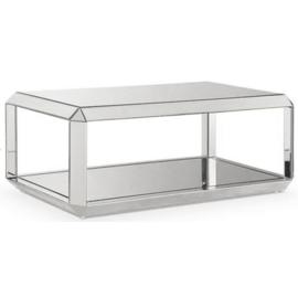 Spiegelend Glas Salontafel Alia 121cm