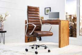 Ergonomisch ontwerp Office Chair BIG DEAL antieke koffie uitvoerend stoel met hoogwaardige verchroomde armleuningen