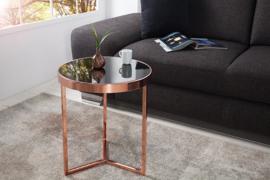 Design bijzettafel Original ASTRO 45cm koper zwart salontafel