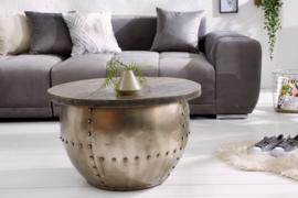Design salontafel DRUMP STORAGE 68 cm grijs mangohout Industrial