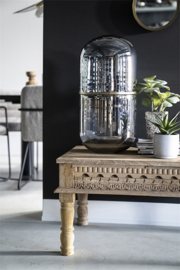 Tafel lamp - bronze - glas 62cm