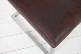 Eetkamerstoel SAMSON met comfort handvat, donkere koffiebruin
