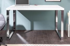 Modern bureau Hoogglans WIT 120 cm