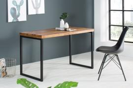 bureau model elements 118cm Sheesham Stone Finish metalen frame