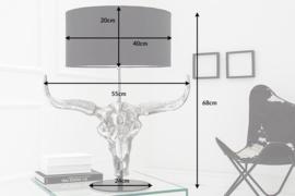 Imposante tafellamp EL TORO 68 cm zwarte stierenkop !!!! LEVERBAAR IN MEI