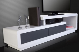 TV / HiFi Meubel Spring - Wit/Antraciet