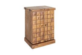 Handgemaakte barkast MOSAICO 130 cm Sheesham houtsteen afwerking 3D-effect. Leverbaar in Juni 2020