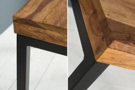 Elegant bureau ELEMENTS 118 cm Sheesham Stone Finish metalen frame