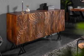 Handgemaakt FLUID dressoir 160 cm complex front van mangohout