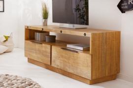 Massief TV lowboard FINCA 150cm natuurlijk gerecycled grenen hout industrieel design