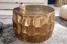 Handgemaakte salontafel ORGANIC ORIENT 68 cm goud gehamerd design