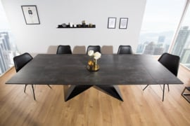 Moderne keramische eettafel PROMETHEUS 180-220-260cm lava uitschuifbaar