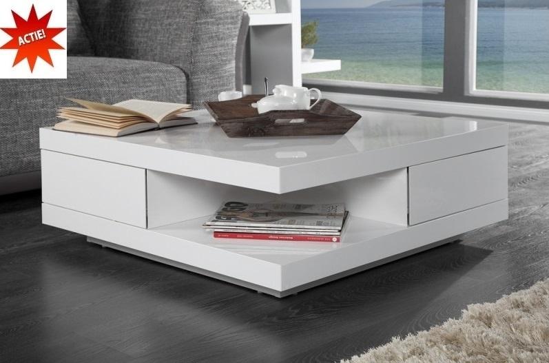 Witte Hoogglans Salon Tafel.Salontafel Model Function Hoogglans Wit Salontafels