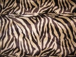 Velboa Zebra beige-bruin