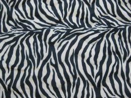 Velboa Zebra zwart-beige