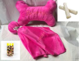 Puppypakket  JBone, knuffel ,whitesticks en 500 gram beloningssnoepjes