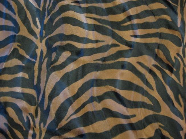 Velboa Zebra zwart-bruin
